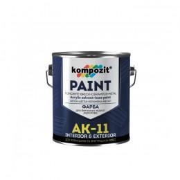 Kompozit AK-11 фарба для бетонних підлог, 2,8кг. Біла